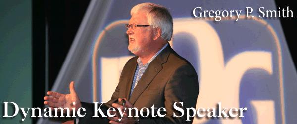 Gregory Smith is a dynamic keynote speaker