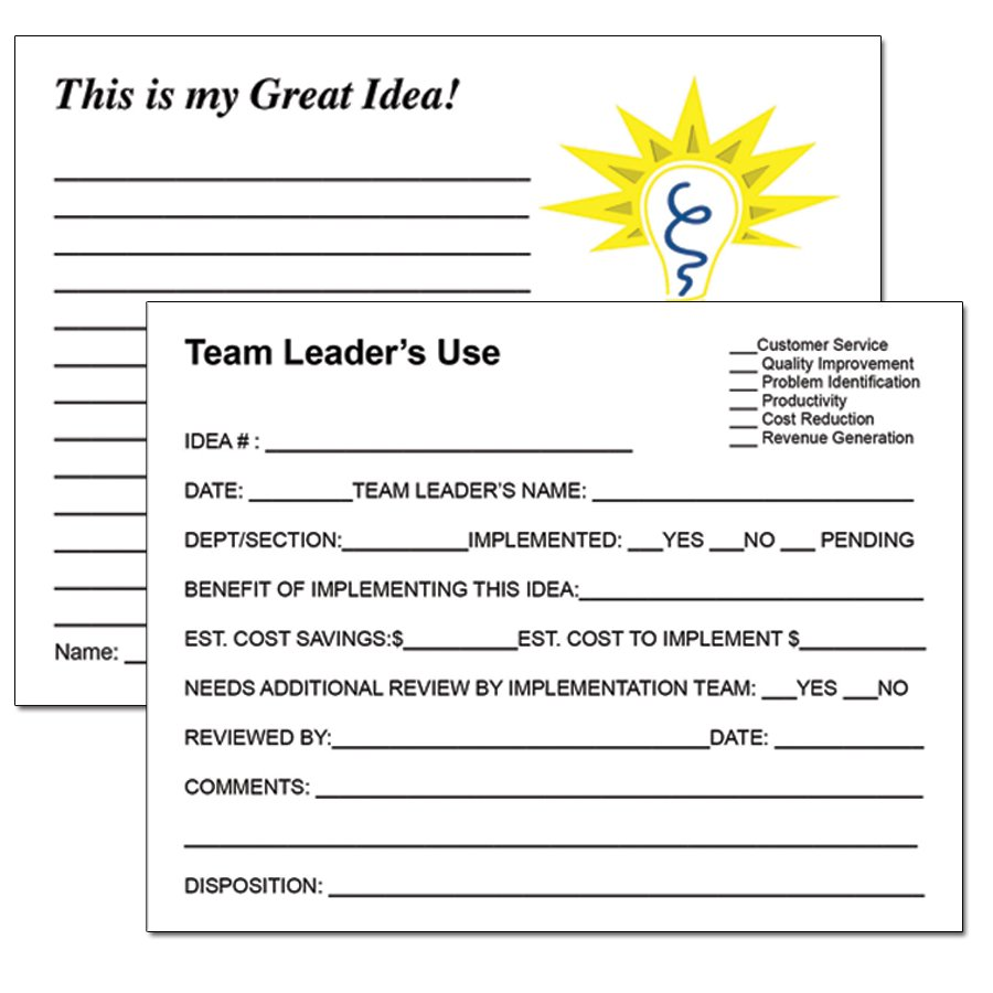Bright ideas campaign employee suggestion program for Word employee suggestion form template