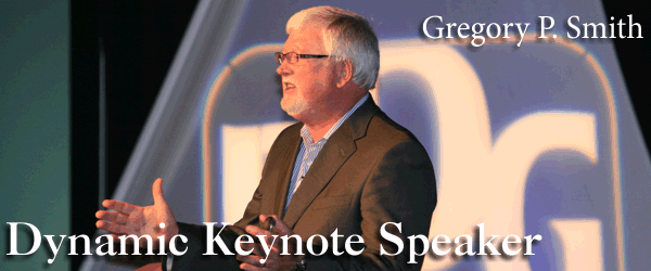 Gregory Smith is a dynamic keynote speaker