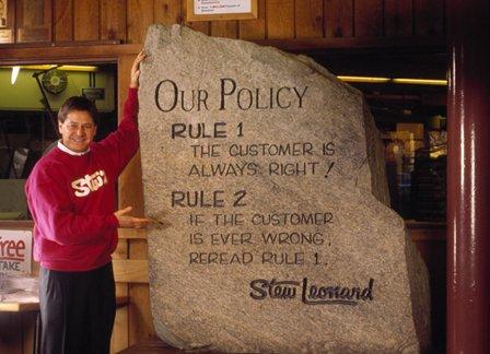 Stu Leonard S Secret For Great Customer Service Chart